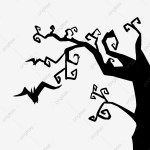 Minimalistic Black Halloween Tree Branches Black Black Minimalist Simple Png Transparent Clipart Image And Psd File For Free Download