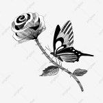 Flower Branch Decorative Tattoo Illustration Flower Branch Tattoo Flower Tattoo Flowers Png Transparent Clipart Image And Psd File For Free Download