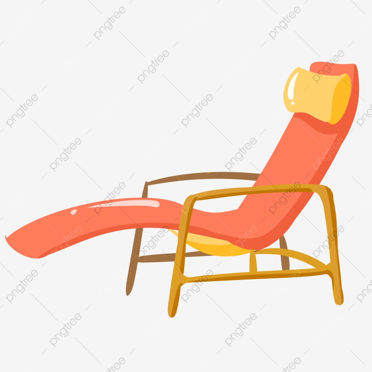 Red Comfortable Cartoon Recliner Lounge Chair Seat