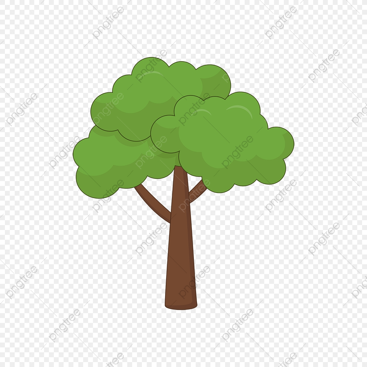 Digital painting background, illustration in cartoon style character. Green Dense Forest Cartoon Trees Material Tree Clipart Tree Green Forest Material Png And Vector With Transparent Background For Free Download