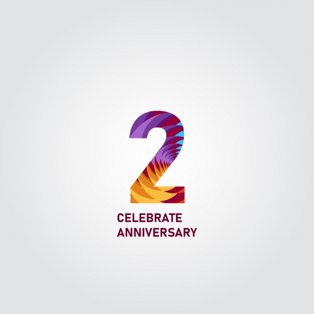 2 Year Anniversary Elegant Rainbow Vector Template Design Illustration Template Icons Rainbow Icons Elegant Icons Png And Vector With Transparent Background For Free Download