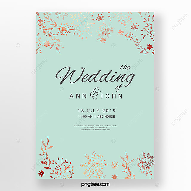 Simple Wedding Invitation Letter With