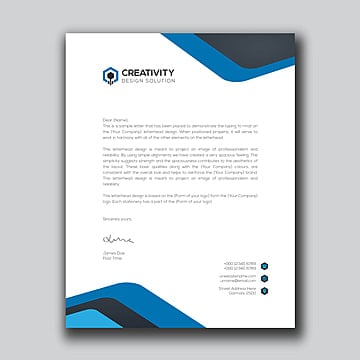 Here is download link for this letterhead template 39 in ms word format, Blue Letterhead Templates Psd Design For Free Download Pngtree