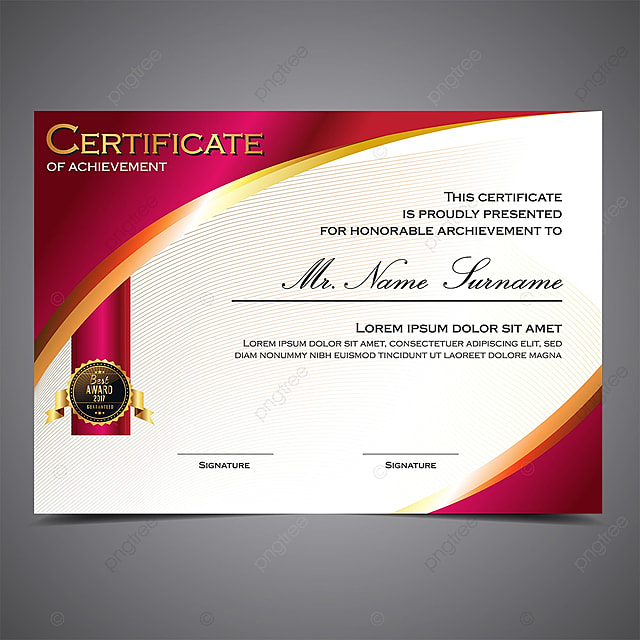 Professional Certificate Template For Free Download On Pngtree