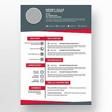 """The traditional advice regarding placing photos on resumes has been an emphatic """"no."""" 1200 Free Resume Templates Professional Cv Templates For Free Download"""
