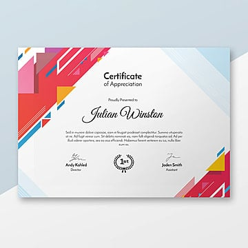 250  Certificate Templates for Free Download on Pngtree Modern Certificate Template Template