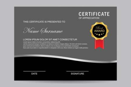 Modern certificate Template for Free Download on Pngtree Modern certificate Template