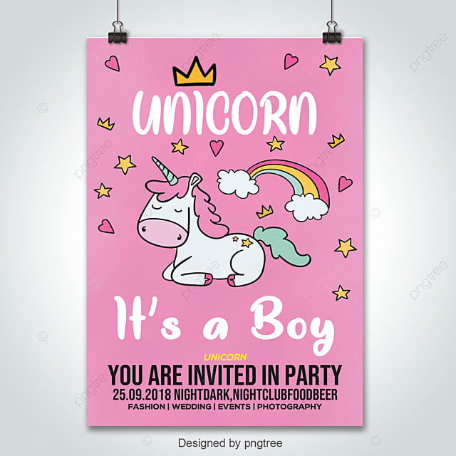 https pngtree com freepng baby shower greeting card with cute unicorn boy 3677065 html