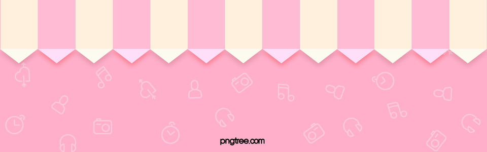 Cute Pink Background Lovely Lace Poster Banner Cute