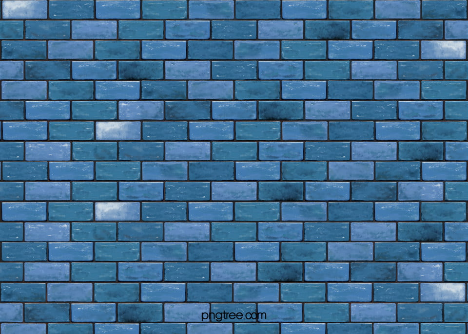 Blue Real Brick Wall Background Realism Dust Real Background Image For Free Download