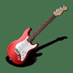 Иконка красная электрогитара - Png картинки и иконки без фона
