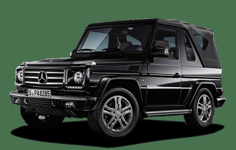 Black Mercedes G Class Gelandewagen Car PNG Image