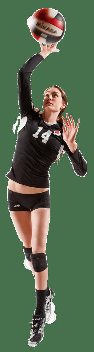 Girls Volleyball Player Background
