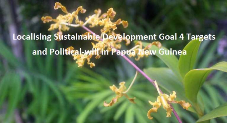 Sustainable Development Goal SDG 4 PNG Targets