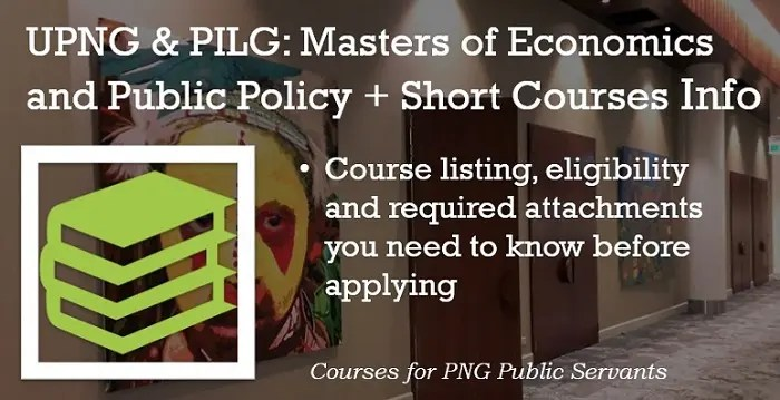 Masters of Economics and Public Policy and Short Courses Info