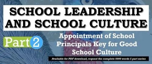 appoint school principals in png schools