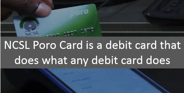 NCSL Poro Card Loan Approval and Withdrawal
