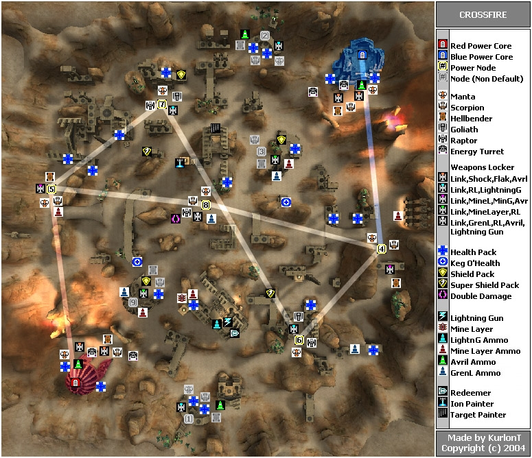 Onslaught Maps  Crossfire   Planet Unreal