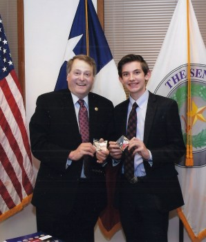 David poses with Representative Brian Birdwell