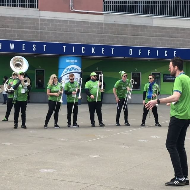 Sound wave- the Official band of Seattle Sounders