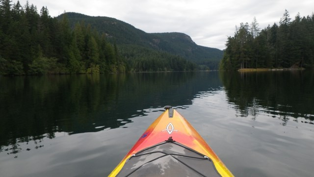 Kayaking on Mountain Lake, Orcas Is