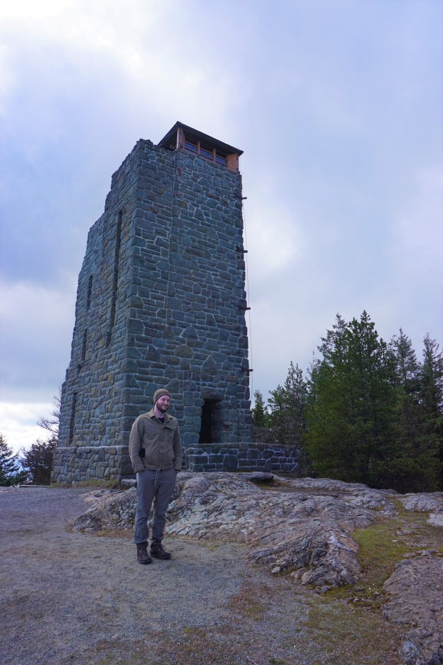 In the 1030's the Civilian Conservation Corps constructed this tower. A stone tower replica of Russian watchtowers constructed during the 12th century.