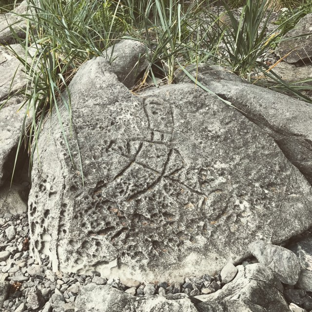 Eagle petroglyph