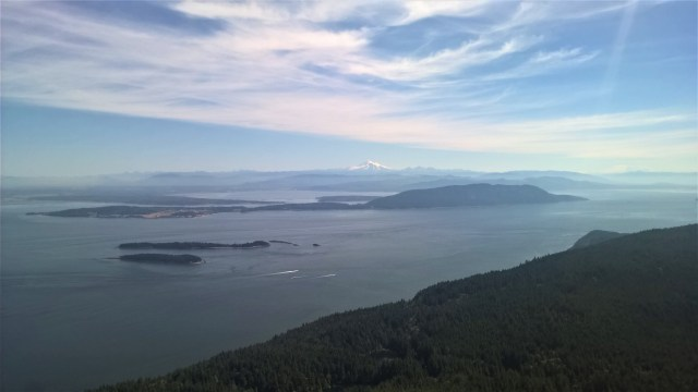 The views from Mt. Constitution on Orcas Is