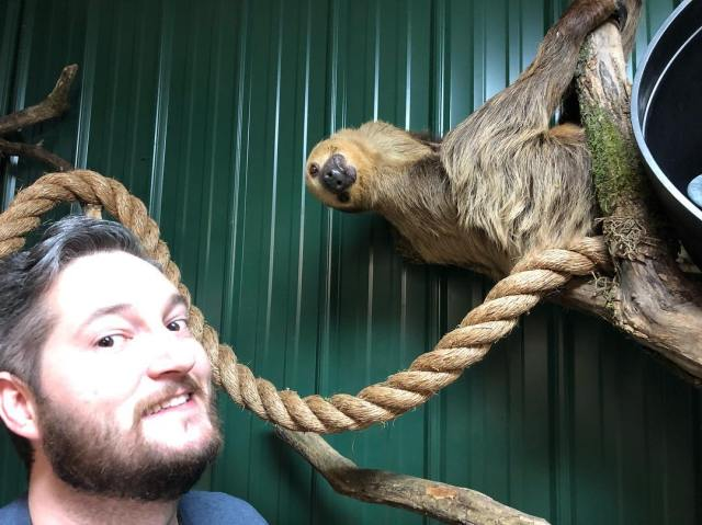 We were warned Bonnie the sloth had a think for tall men with beards