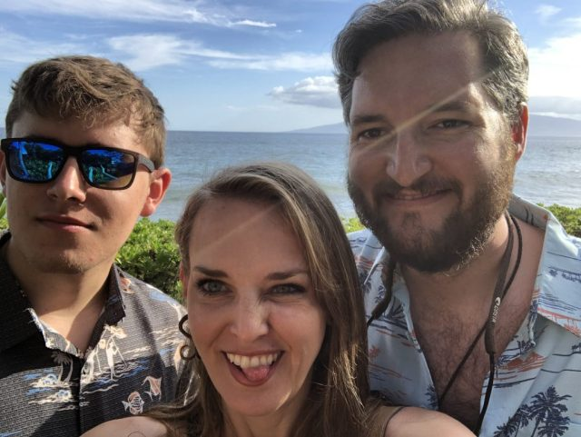 photo of two men and a woman in maui