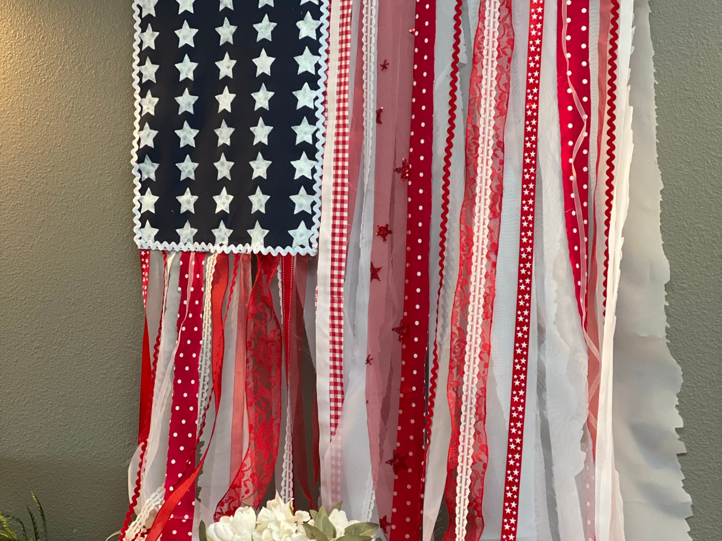 no sew DIY boho americana flag