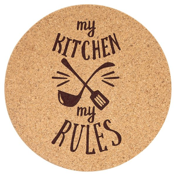 7.5 cork round trivet to be customized