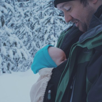 How to Snowshoe with a Baby