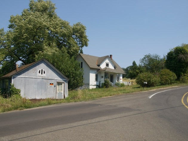 Ghost town of Butteville Oregon