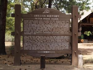Peter Skene Ogden History Sign