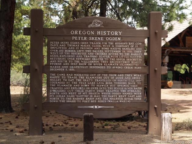 Peter Skene Ogden History Sign