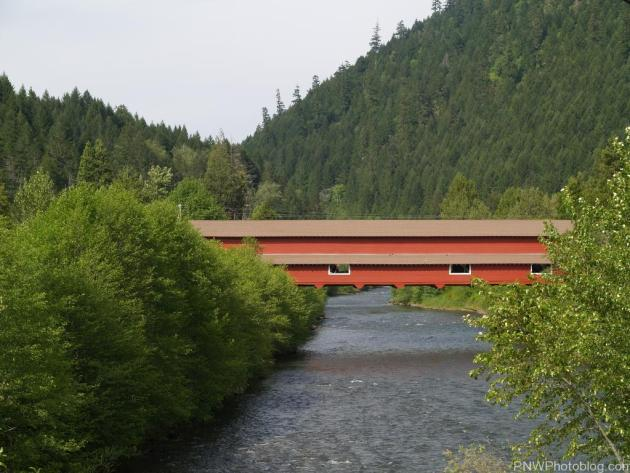 Office Covered Bridge in Westfir Oregon