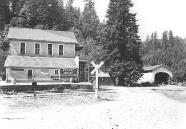 Frantz Grocery and second Hoskins Bridge. Also taken by Ben Maxwell