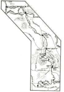 Map of the Clackamas and Eastern Railroad