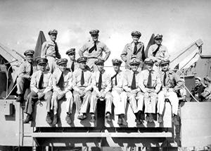 USS LST-263 ship and staff officers, Palermo Sicily, August 1944. From Douglas K. Fidler, Captain, USAF-Retired