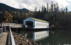 Lowell Covered Bridge, Oregon