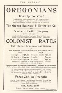The Orderly 1910 - Train Travel Advertisement