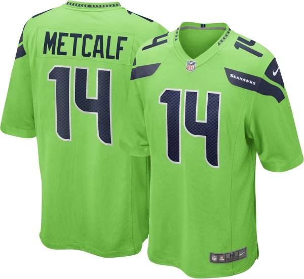 2020 NFL Nike DK Metcalf Seattle Seahawks Alternate Game Jersey - Neon Green