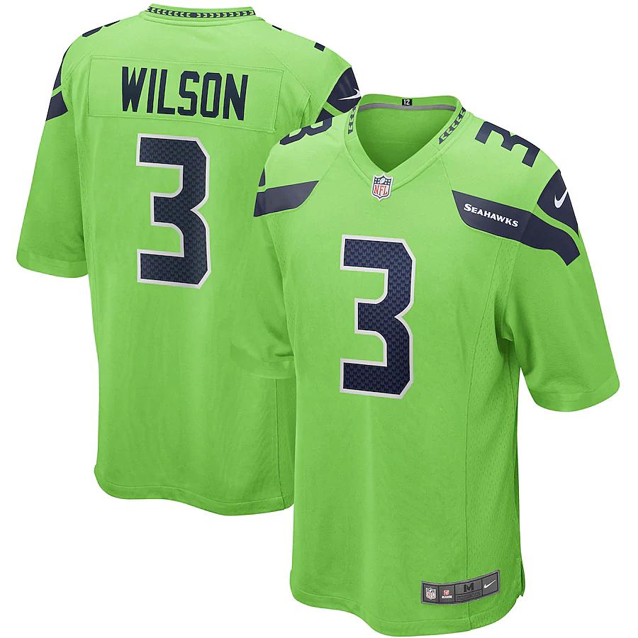 russell wilson jersey mens medium