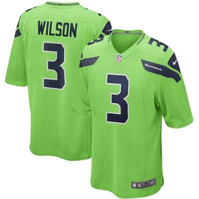 2020 NFL Nike Russell Wilson Seattle Seahawks Alternate Game Jersey - Neon Green