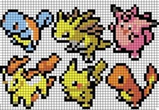 Покемоны-3-риснки-по-клеточкам1