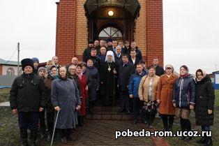 В Атьме освящен новопостроенный храм в честь преподобного Сергия Радонежского
