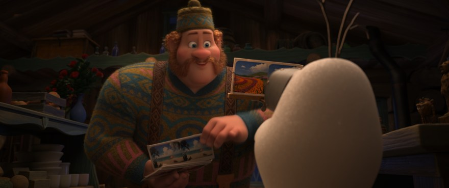 Olaf and Oaken in Once Upon a Snowman