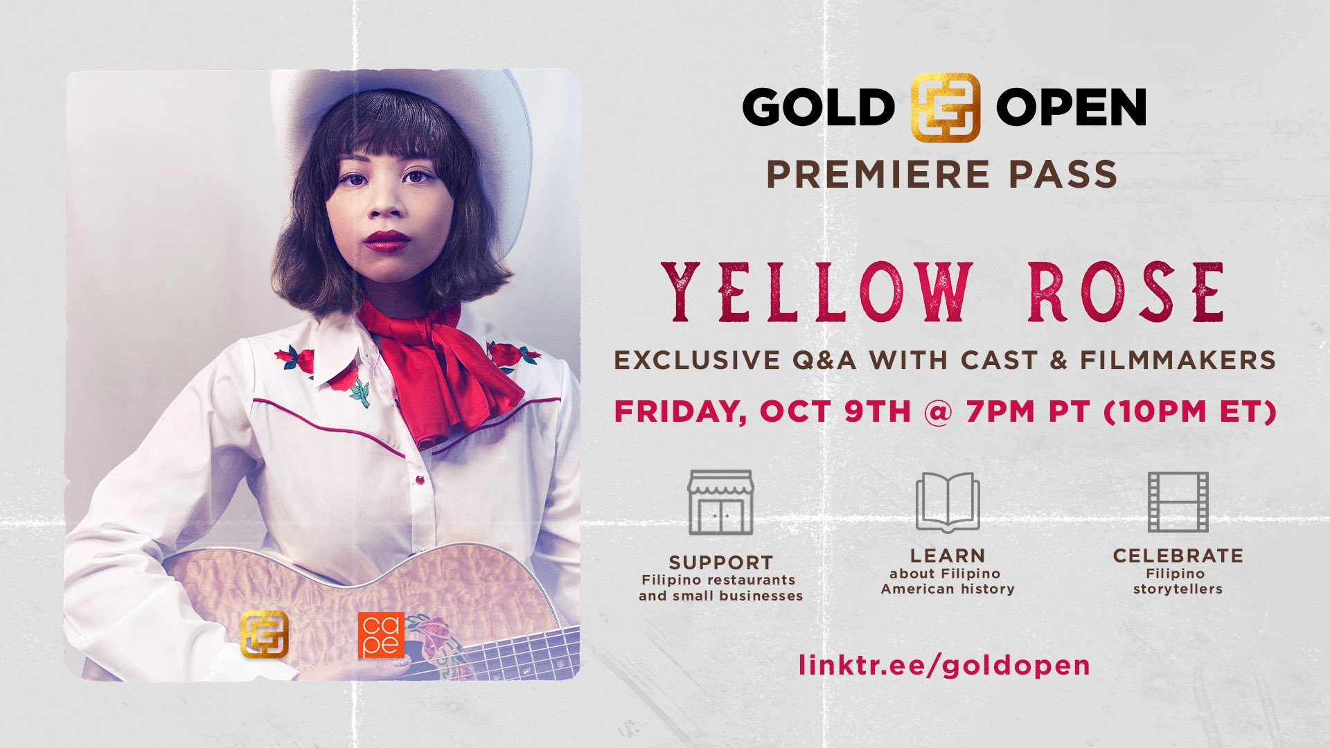 Yellow Rose #GoldOpen Premiere Pass Details