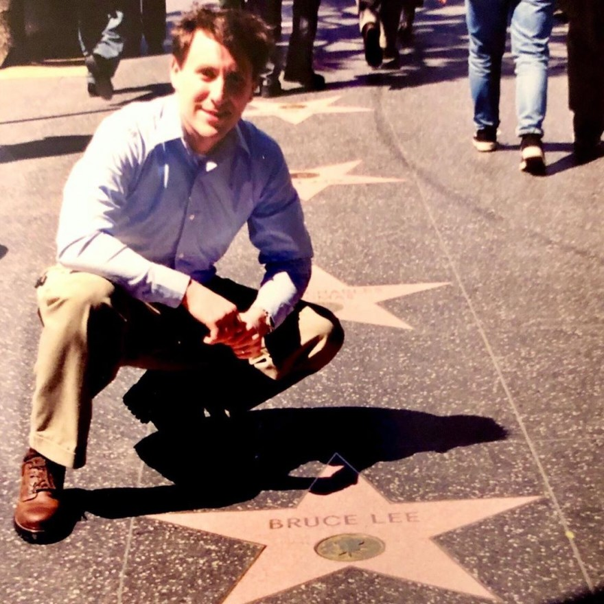 Jonathan Tropper Next to Bruce Lee's Hollywood Star